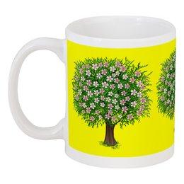 """Кружка """"Цветочное дерево."""" - цветы, растение, настроение, весна, дерево"""