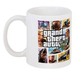 """Кружка """"GTA 5"""" - кружка, gta, gta 5, gta iv, grand theft auto 5, grand theft auto iv, из игры"""