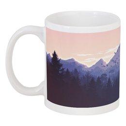 """Кружка """"Горный пейзаж с лесом."""" - лес, горы, тайга, урал"""