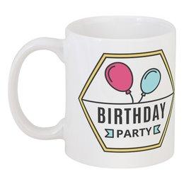 """Кружка """"Birthday party"""" - др, с днём рождения, день рождения, happy birthday to you, birthday party"""
