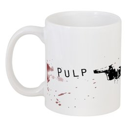 """Кружка """"Pulp Fiction"""" - арт, фильм, тарантино, криминальное чтиво, pulp fiction"""