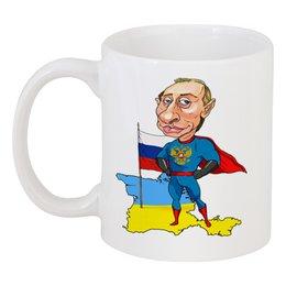 "Кружка ""Путин супермен"" - москва, россия, политика, путин, владимир путин, вова, кремль, ввп, putin"