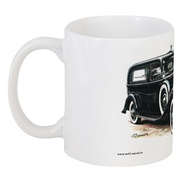 "Кружка ""Ретроавтомобили 3"" - ретро, рисунок, автомобили"