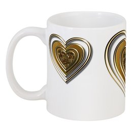 """Кружка """"Золотые Сердца"""" - сердце, heart, сердца, золотые сердца, сердчеки"""