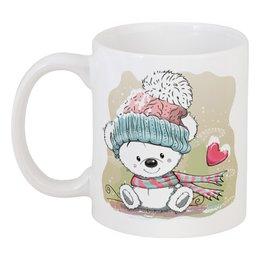 """Кружка """"Медвежонок"""" - юмор, зима, рисунок, мультяшка, медвежонок"""