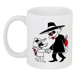 """Кружка """"Щекотка и Царапка"""" - simpsons, симпсоны, щекотка и царапка, кот и мышь, itchy and scratchy"""