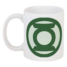 """Кружка """"Зеленый фонарь"""" - комиксы, dc, green lantern, зелёный фонарь"""
