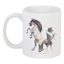 """Кружка """"Якутская лошадь/Якутская лайка"""" - лошадь, собака, пони, лайка"""
