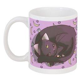 """Кружка """"Кошка Луна"""" - кот, утро, сон, sailor moon, луна"""