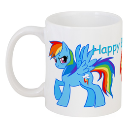 "Кружка ""Rainbow Dash "" - pony, mlp, dash"