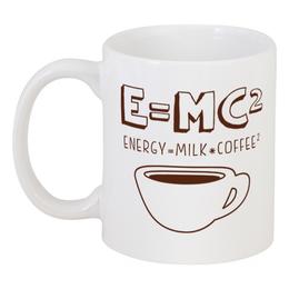 """Кружка """"E=mc2"""" - приколы, прикольные, кофе, наука, формулы"""