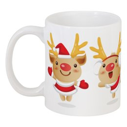 """Кружка """"Рождественские олени"""" - праздник, новый год, рождество, дед мороз, олень"""