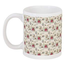 """Кружка """"Floral owl"""" - цветы, совы, owl, цветочный, совушки"""