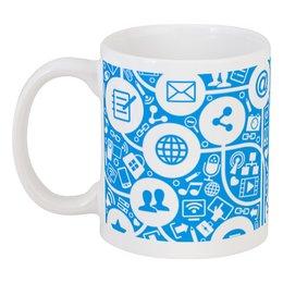 """Кружка """"Интернет"""" - интернет, твиттер, почта, телефон, паутина"""