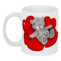 """Кружка """"Мишка Тедди"""" - love, сердца, день святого валентина, hearts, мишка тедди"""