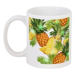"Кружка ""Ананасы"" - фрукты, рисунок, тропики, ананасы"