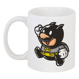 """Кружка """"Бэтмен (Марио)"""" - batman, mario"""