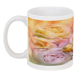 """Кружка """"Пионы"""" - бабочки, цветы, пионы, розы, букет"""