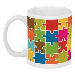 """Кружка """"PUZZLE"""" - puzzle, мозаика, фэн-арт, дизайн, графика"""
