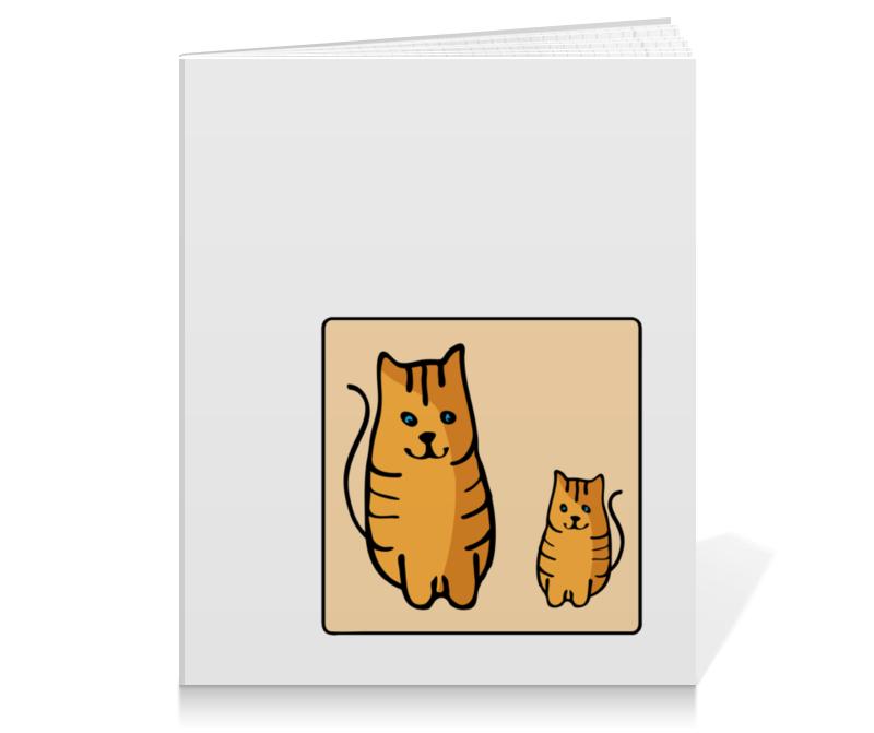 Тетрадь на клею Printio Два котика, смотрящие друг на друга