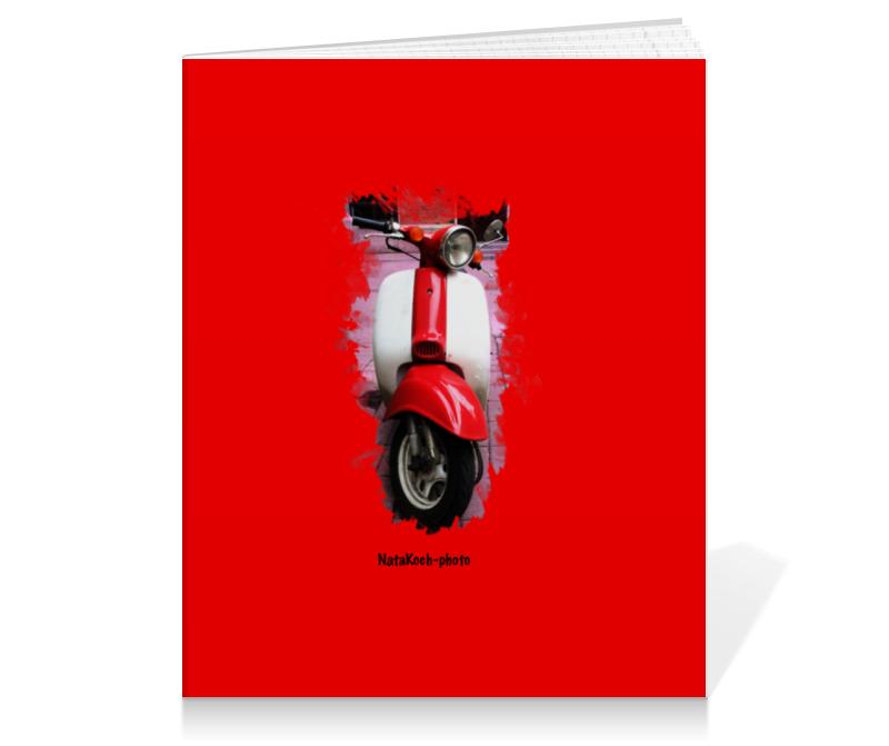 Тетрадь на клею Printio Скутер купить б у японский скутер в одессе