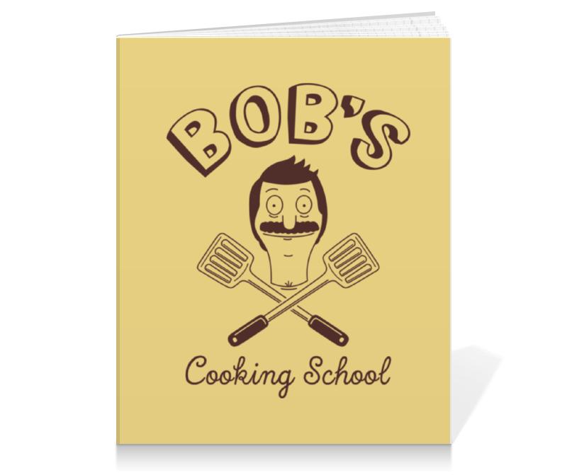 Тетрадь на клею Printio Bob's cooking school. бургеры боба