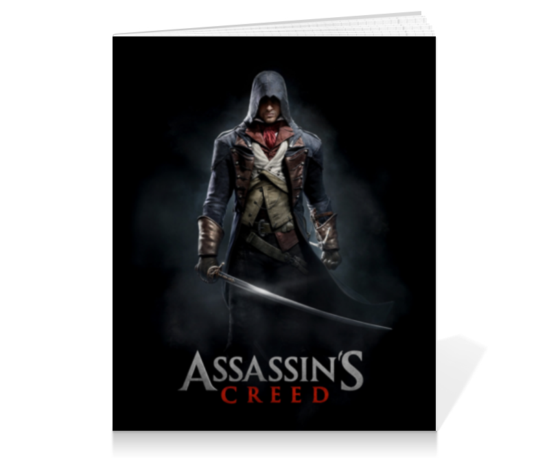 Тетрадь на клею Printio Assassins creed (unity arno) аминокислоты vplab аминокислоты vplab bcaa 2 1 1 вишня 500 г