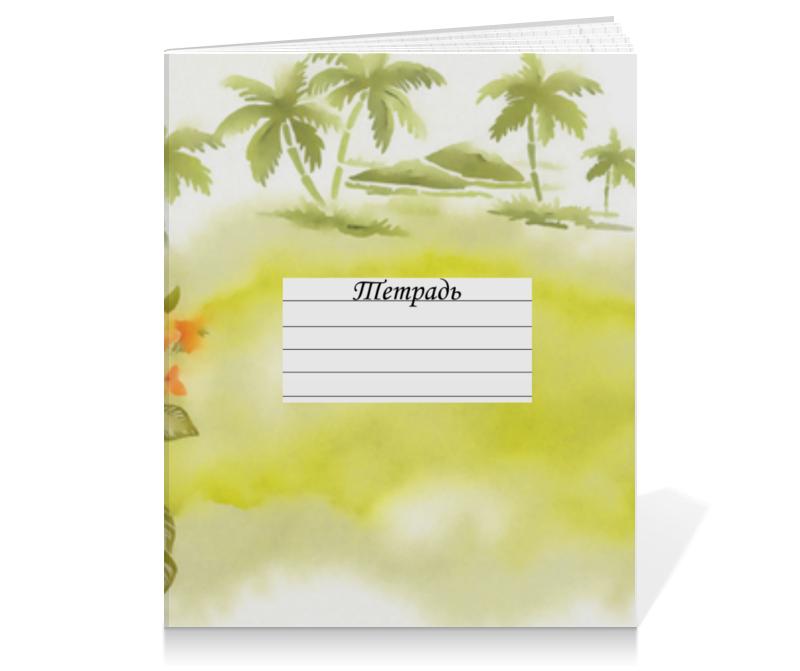 Тетрадь на клею Printio Тропические цветы, пальмы. блокнот printio тропические цветы пальмы
