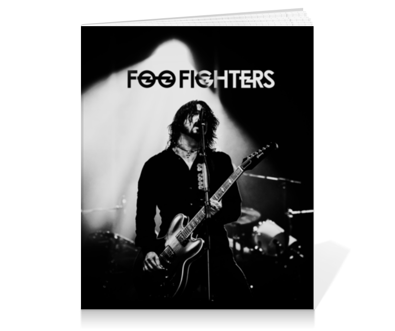 Тетрадь на клею Printio Foo fighters