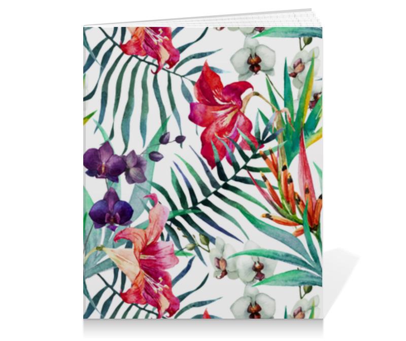 Тетрадь на клею Printio Тропические цветы виниловый проигрыватель teac lp r550usb black