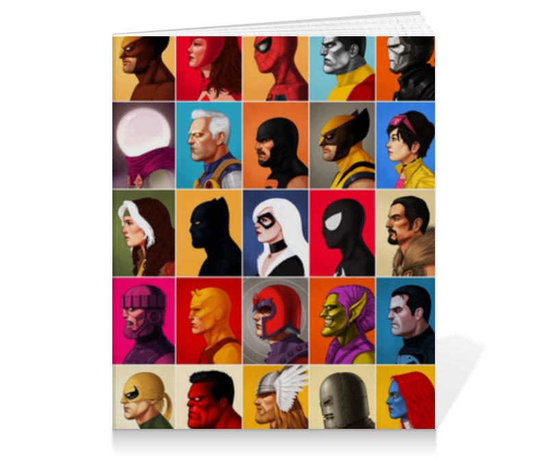 Тетрадь на клею Printio Marvel heroes printio тетрадь на клею