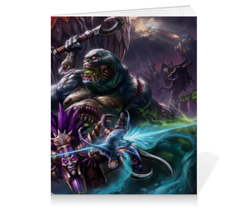 Тетрадь на клею Printio Heroes of the storm steelseries qck heroes of the storm черный синий