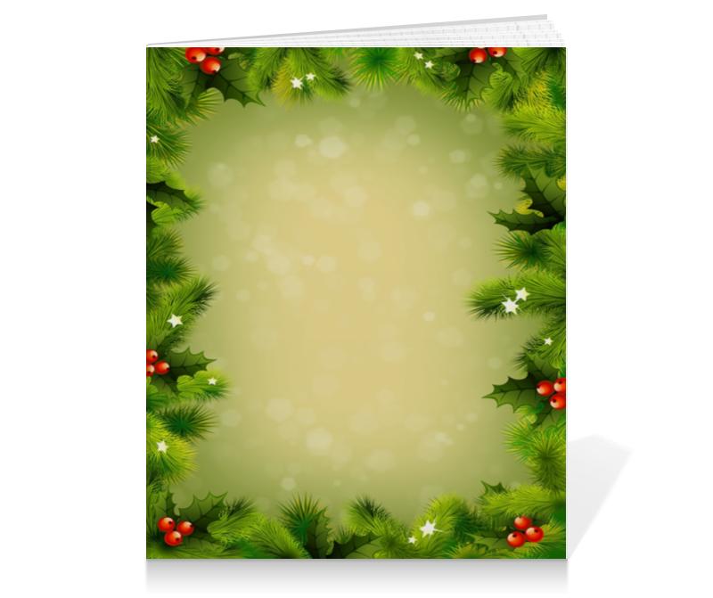 Тетрадь на клею Printio Для новогодних подарков