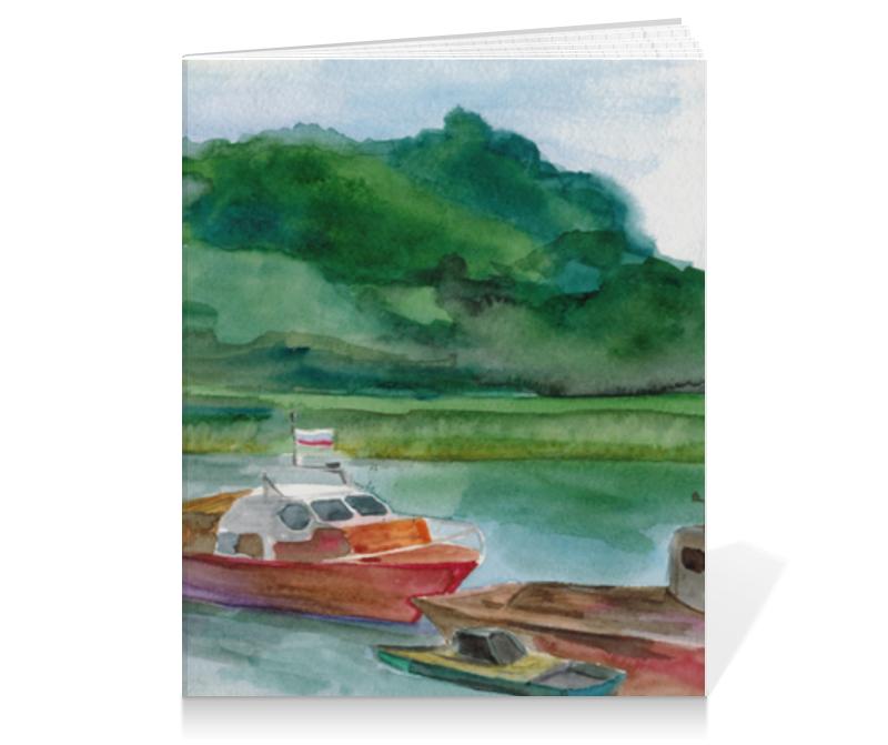 Тетрадь на клею Printio катер, серия акварель 2015 плакат a2 42x59 printio весёлый роджер jolly roger