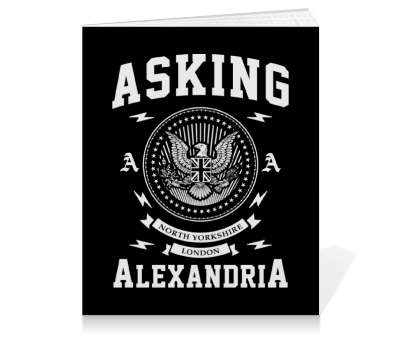Тетрадь на клею Printio Asking alexandria