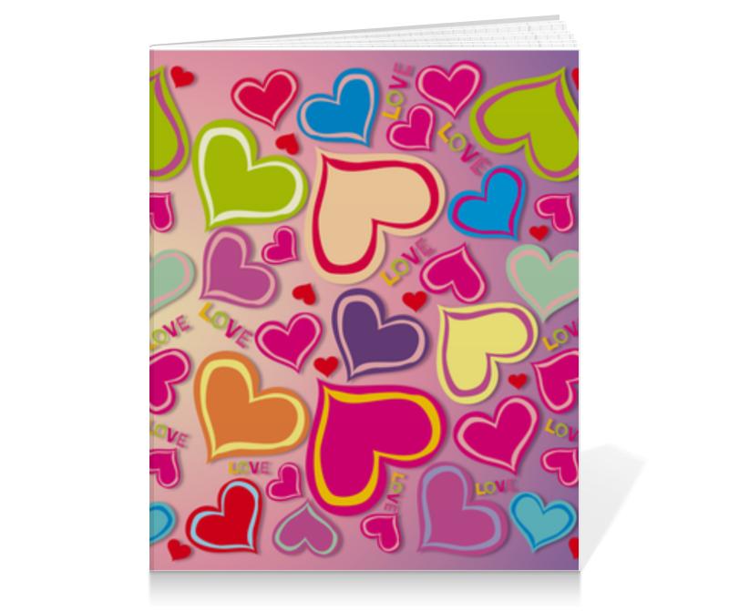 Тетрадь на клею Printio Love тетрадь на клею printio фламинго