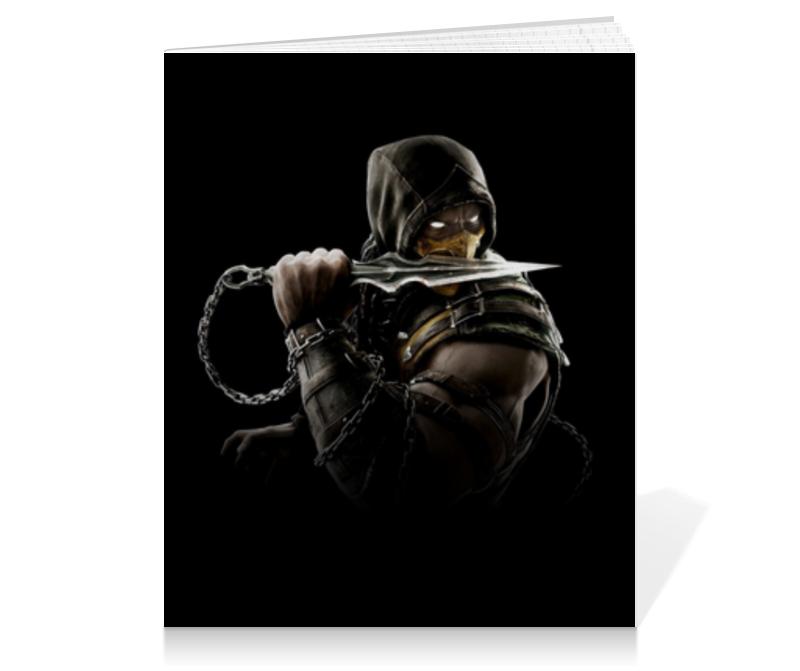 Тетрадь на клею Printio Mortal kombat (scorpion) тетрадь на клею printio peace among worlds рик санчез