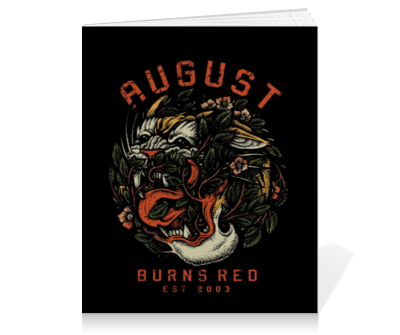 Тетрадь на клею Printio August burns red august burns red bochum