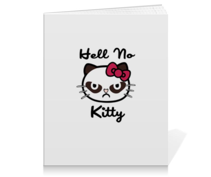 Тетрадь на клею Printio Hell no kitty тетрадь на скрепке printio hell no kitty