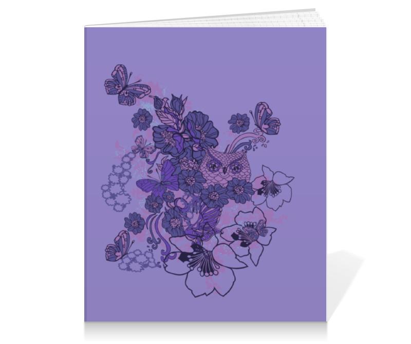 Тетрадь на клею Printio Сова в цветах