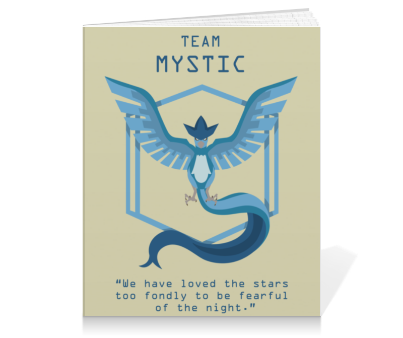 Тетрадь на клею Printio Team mystic mystic пуловер