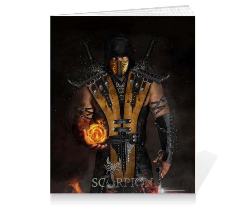 Тетрадь на клею Printio Mortal kombat (scorpion) тетрадь на клею printio heroes of the storm