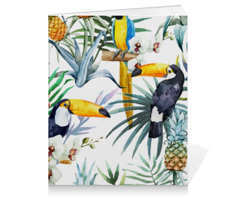 Тетрадь на клею Printio Тропические птицы
