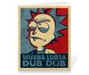 "Тетрадь на клею ""Wubba Lubba Dub Dub. Рик из ""Рик и Морти"""" - мультфильмы, pop art, rick and morty, рик и морти, wubba lubba dub dub"