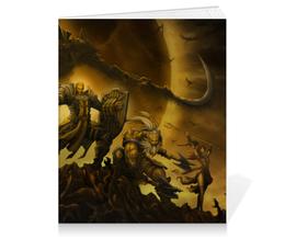"Тетрадь на клею ""Diablo III"" - монах, диабло, крестоносец, близзард, варвар"