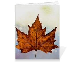 """Тетрадь на клею """"Осень"""" - осень, учёба, канцелярия, золотая осень, снова в школу"""
