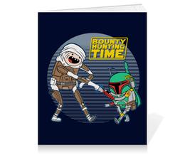"""Тетрадь на клею """"Bounty Hunting Time"""" - star wars, adventure time, время приключений, звездные войны, финн и джейк"""