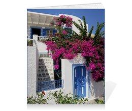 """Тетрадь на клею """"""""Греция. Остров Санторини"""""""" - цветы, путешествия, travel, греция, санторини"""