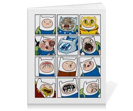 "Тетрадь на клею ""Финн. Время Приключений"" - adventure time, время приключений, finn and jake, финн, финн и джейк"