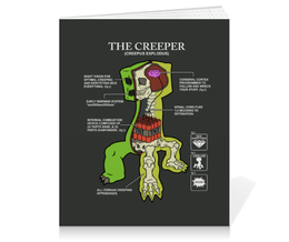 "Тетрадь на клею ""Крипер. Майнкрафт"" - minecraft, майнкрафт, creeper, крипер, геймерские"